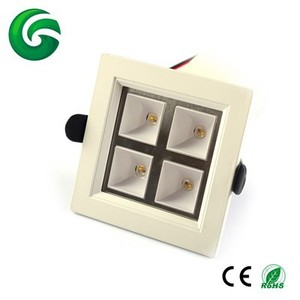 32W RGBW Square Led Ceiling Light 24V DC Colorful Light