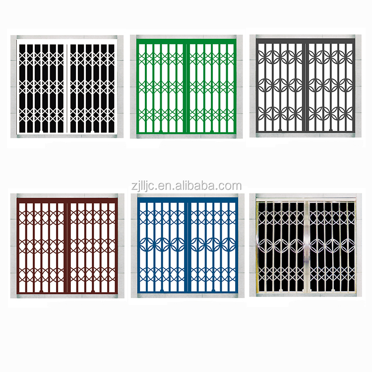Metal Door Folding Gate Design Stainless Steel Grill Gate