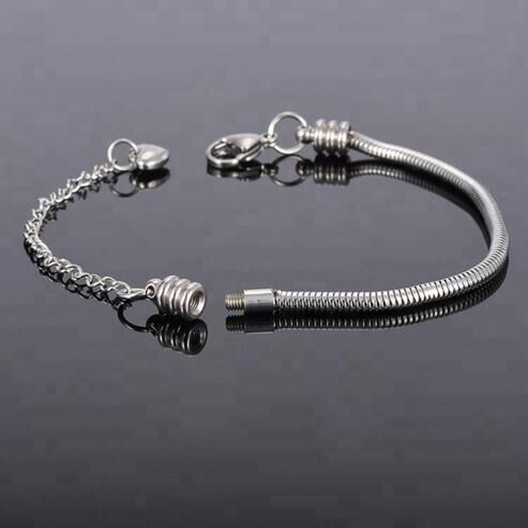 Yiwu East Queen Jewelry Hot Selling Fashion 316L Stainless Steel Starter Snake Chain Bracelets