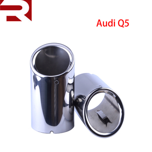 New Arraived Stainless Steel Car Rear Round Exhaust Pipe Tail Muffler Tip For Audi A4 A5 Q5