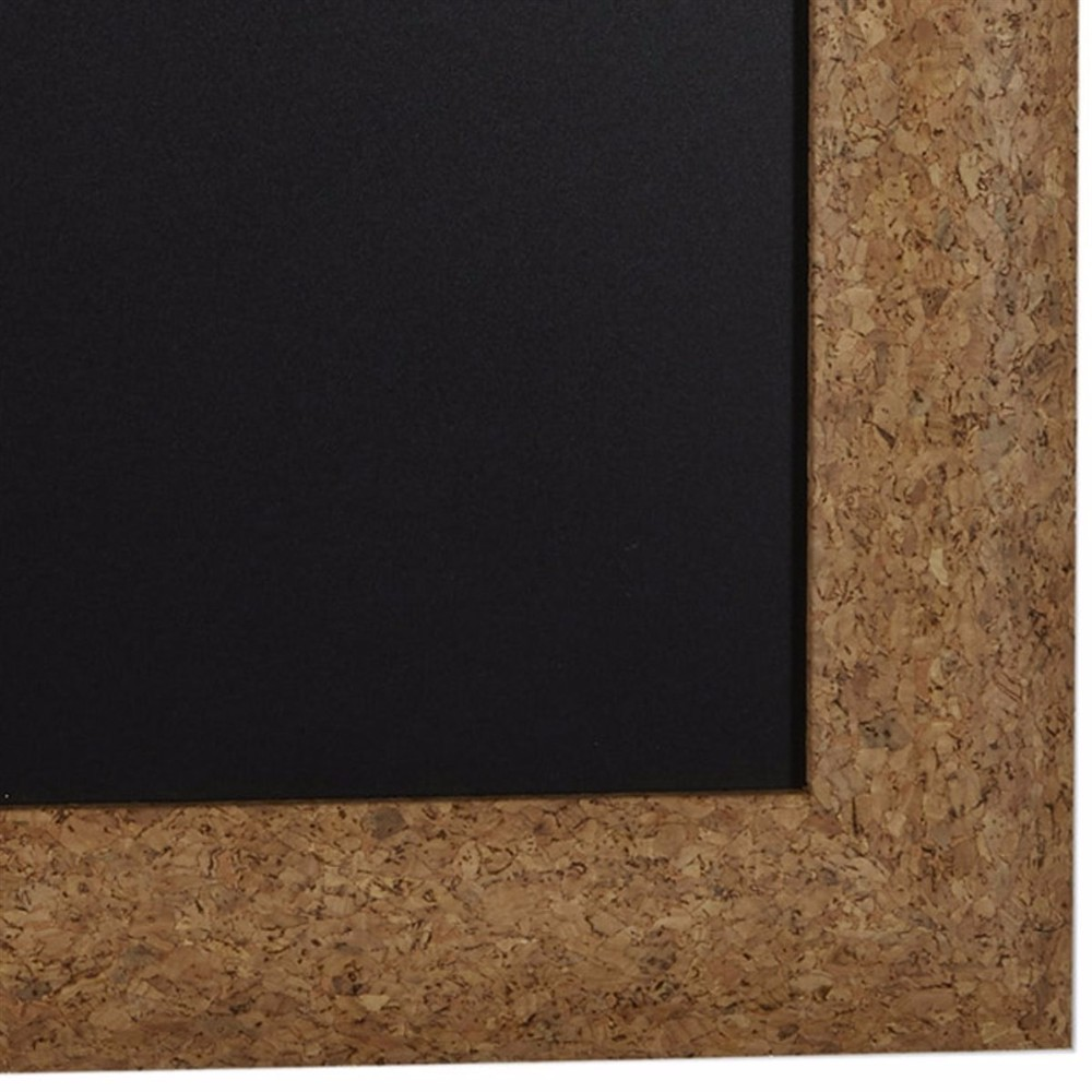 customized chalk board framed faux cork board easy hanging finish wood frame hanger chalkboard