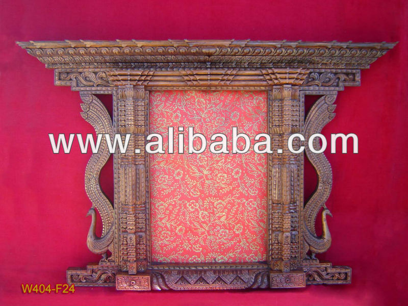 Nepali Wood carved photo frame / mirror frame hand carving