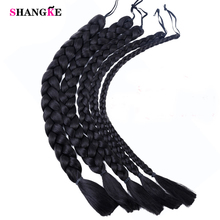 Black Synthetic Jumbo Braids Braiding Hair High Temperature Fiber for Film and Cospaly Costume Cosplay Ponytails