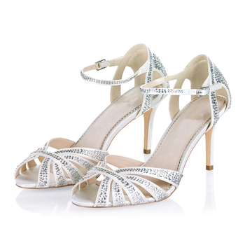 9a72d059ab39 Popular Ladies Footwear Shoes Market Handmade Leather Heel Sandal Bridal  Wedding Shoes