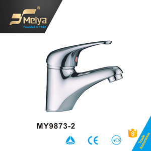 High Style Cubic Modern Golden Finish Basin Faucets
