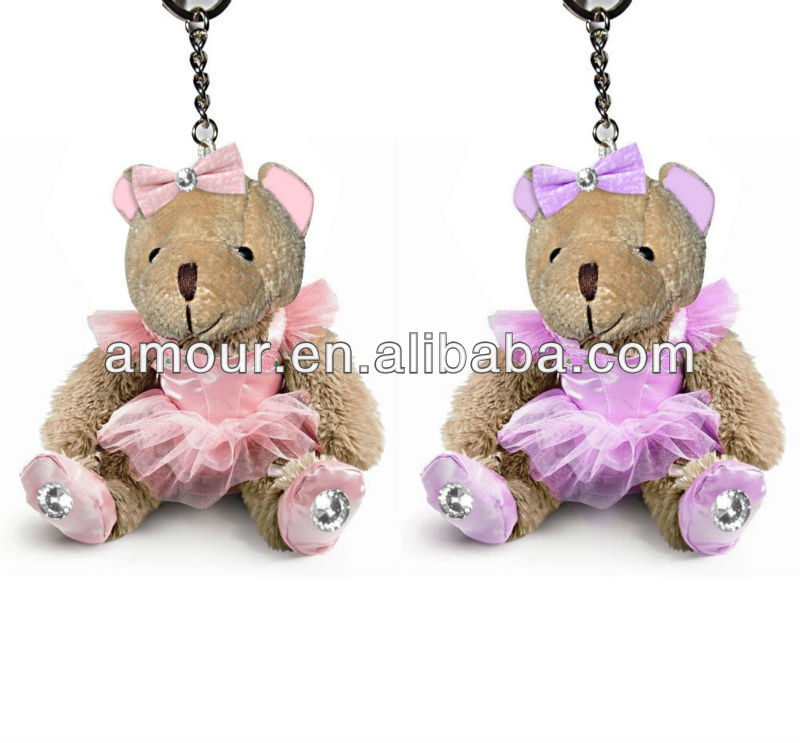 super cute dressed mini ted keychain stuffed little toy bear for sale cheap stuffed animal toy pendant wholeslae