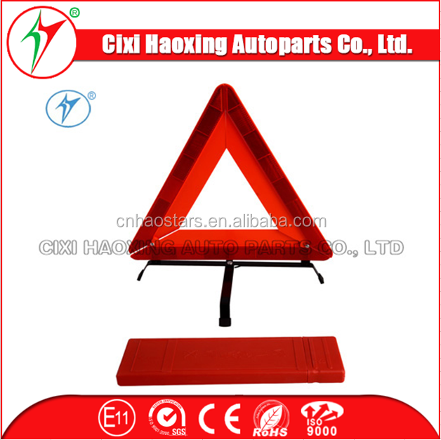 Manufactory Emergency Tools Traffic Sign Reflective E-MARK folding warning triangle for traffic sign(DX-D6A)