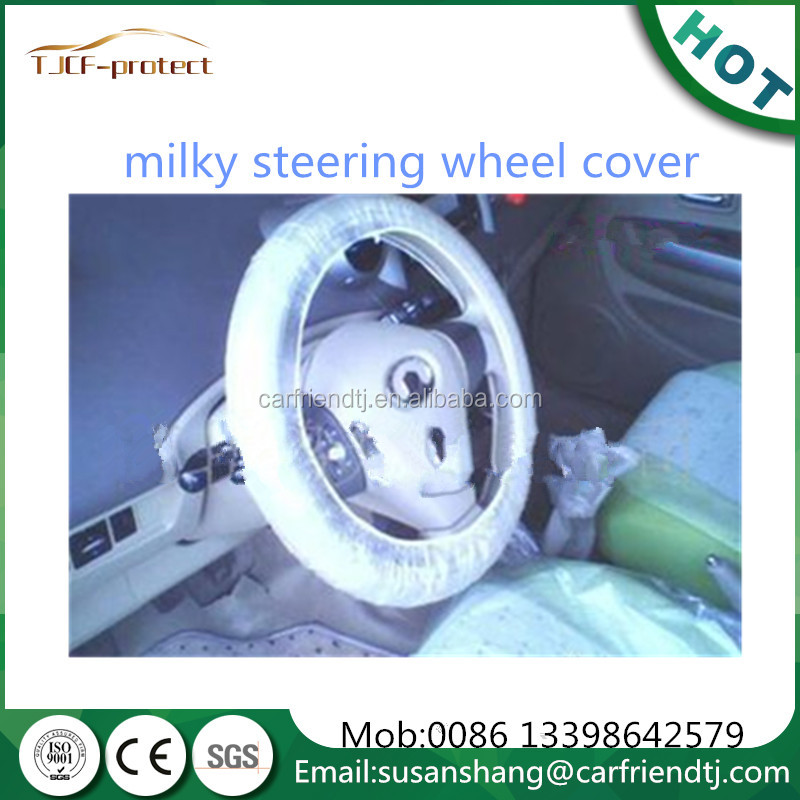 auto disposable steering wheel cover for auto cleaning made in China white and transparent colours