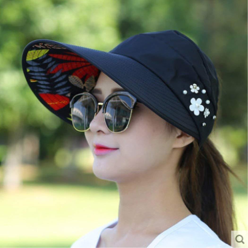 Get Quotations · JuanKai Sun Hats Sun Visor Hat Sun Hats for Women with Big  Heads Beach Hat Summer 32a3b8749e6