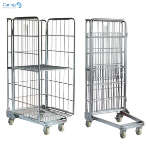 Warehouse trolley roll cage container