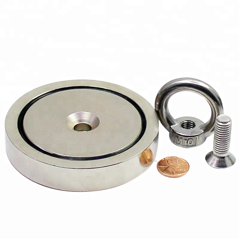 Round Neodymium Fishing Pot shape Super Strong magnet fishing kit Household Sundries