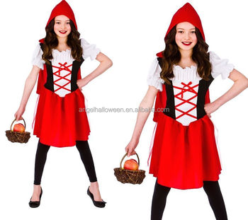 Kids Halloween Costume Beautiful Fairy Little Red Riding Hood Costume FC2267