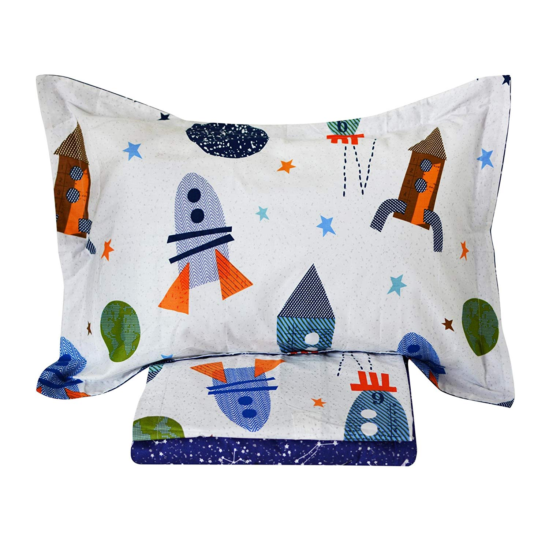 f8b53b94afa9 Get Quotations · Brandream Space Bedding For Kids Boys Bedding Galaxy Bedding  Sets Rockets Super Soft Bed Sheet Set