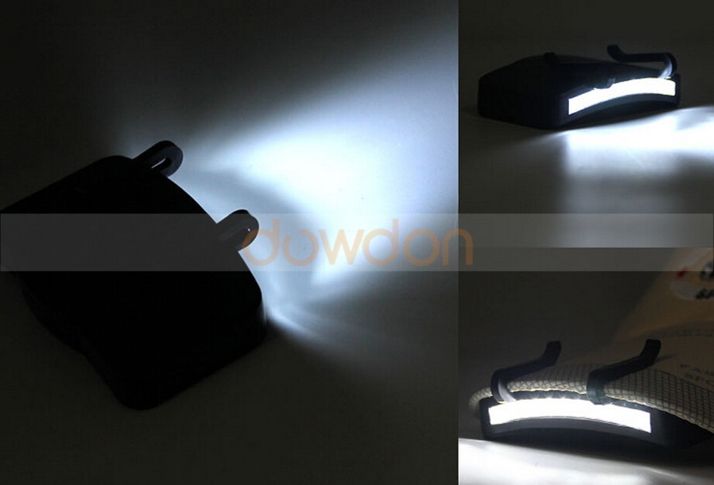 3W Rechargeable Hat Clip Light 11 LED Cap Clip On Fishing Light