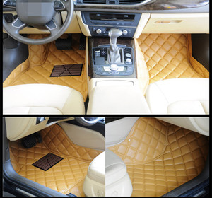 comfortable auto leather foot mat car mats for Volkswagen Golf 7