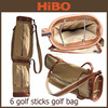 GuangZhou Luxury high end 6 sticks PU canvas leather golf bag