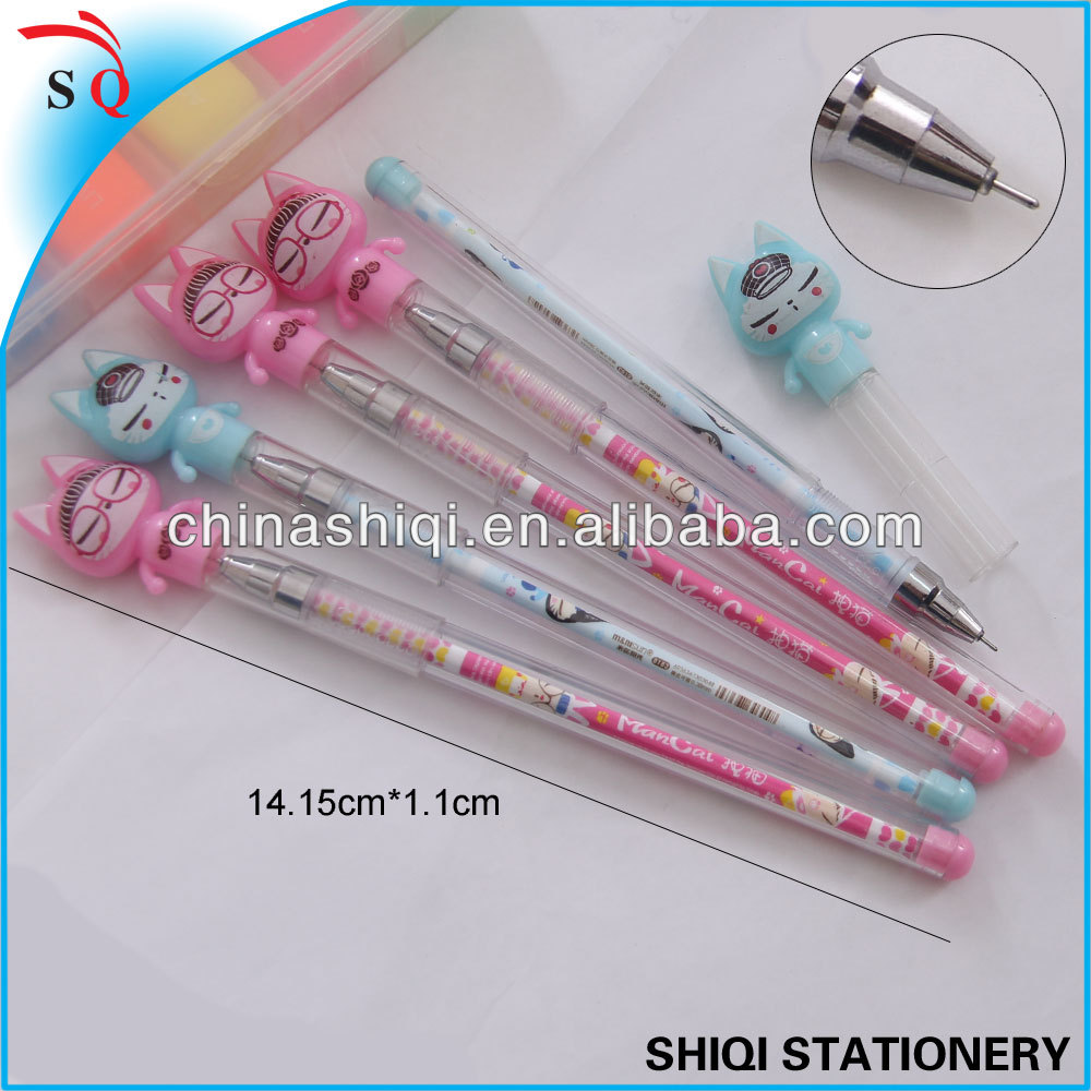 Korea cartoon cat fine point gel pen