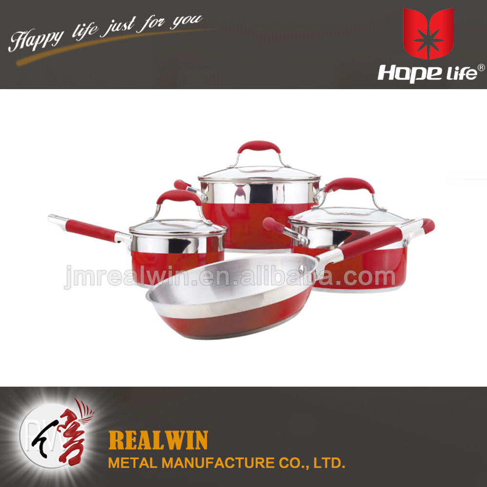 Straight shape folded edge cooking pot ,cookware pan , cookware sets