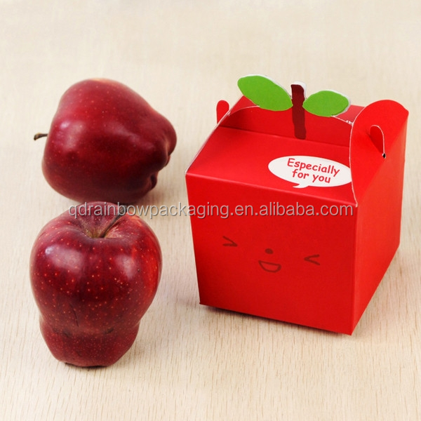 folding paper box for packaging, fruit packing box, Apple packing box