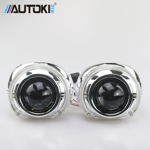 AUTOKI 3.0inch S-Max LED DRL light shroud with 2.5inch H1 Mini Hi/Low bi xenon Projector lens kit for headlight retrofit