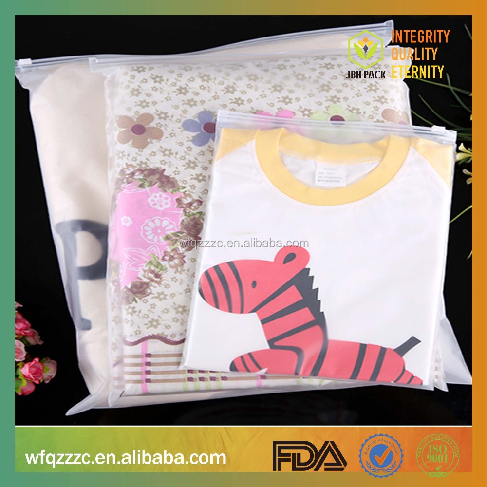 cheap own logo garment clothes t shirt packing bag zip lock style clear zipper <strong>plastic</strong>