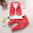 2016 Wholesale Discounted Clothes Kids Boys Fall Wear Boutique Westernsuit Clothing