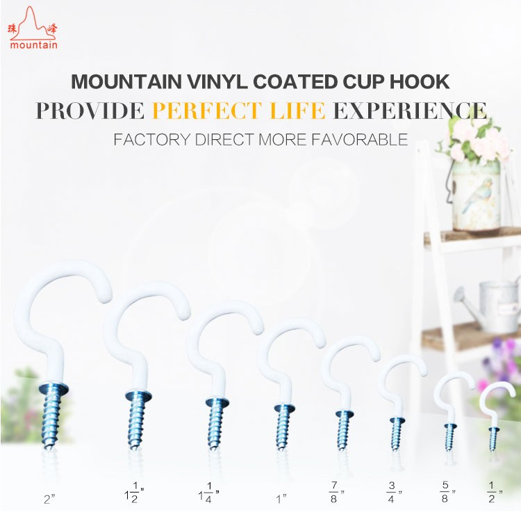 Wall Hanger Cup Hooks Cup Coated Vinyl Coated Hooks Buy Cup - Vinyl coated cup hooks