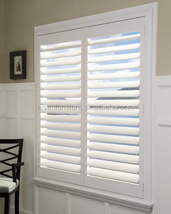 Decorative Solid Panels Indoor Simple Plantation Shutter Ventilated Louver Product On Alibaba