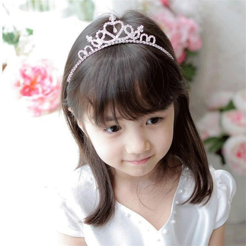 New Princess Crown Baby Girls Headbands Crystal Wedding Hair Accessories  Tiara For Toddler Kids Girls Birthday Party Hair Wear a88a3d67e8c