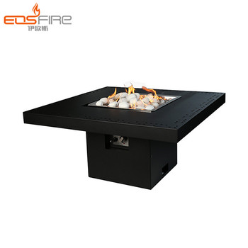 Eos Fire Square Outdoor Garden Gas Fireplace Burner
