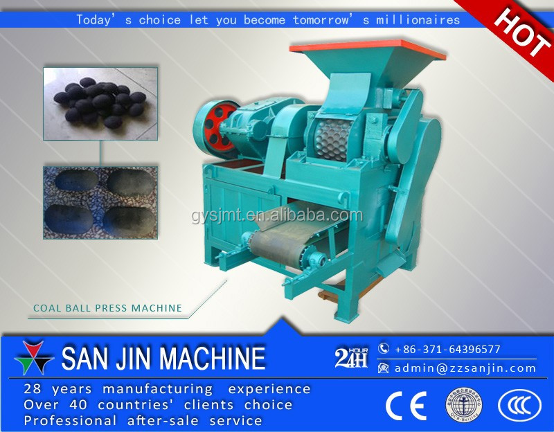 Motor warranty 5 years coal dust charcoal powder dry powder briquette forming machine with CE certificate