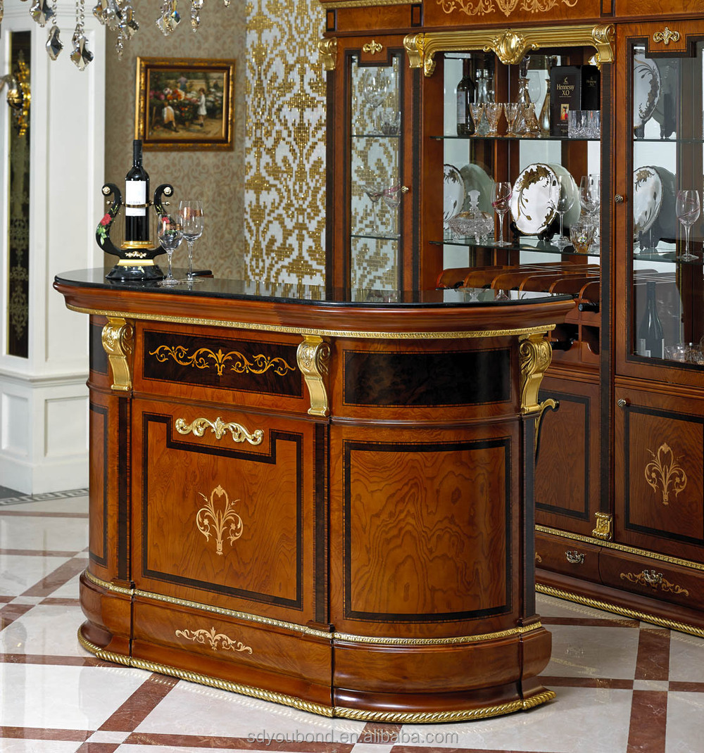 0038 antique living room bar furniture set classic luxury