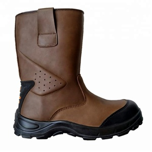 New Design Cheap UK Style High Heel Safety Shoes Manufacturer Insolent Steel Toe Insert Leather Working Boots