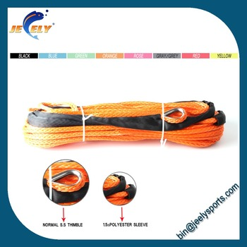 Uhmwpe ATV Synthetic Winch Rope