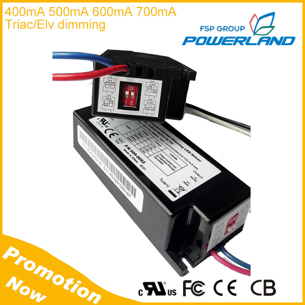 20W 400mA 500mA 600mA 700mA 4-in-1 Triac Dimmable LED Driver with UL Certificate
