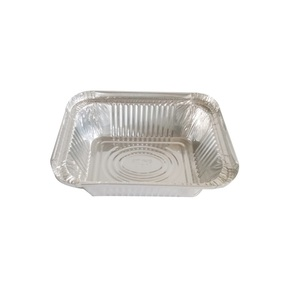 ALUMINIUM FOIL FOOD TAKEAWAY CONTAINERS TRAYS with LIDS No2