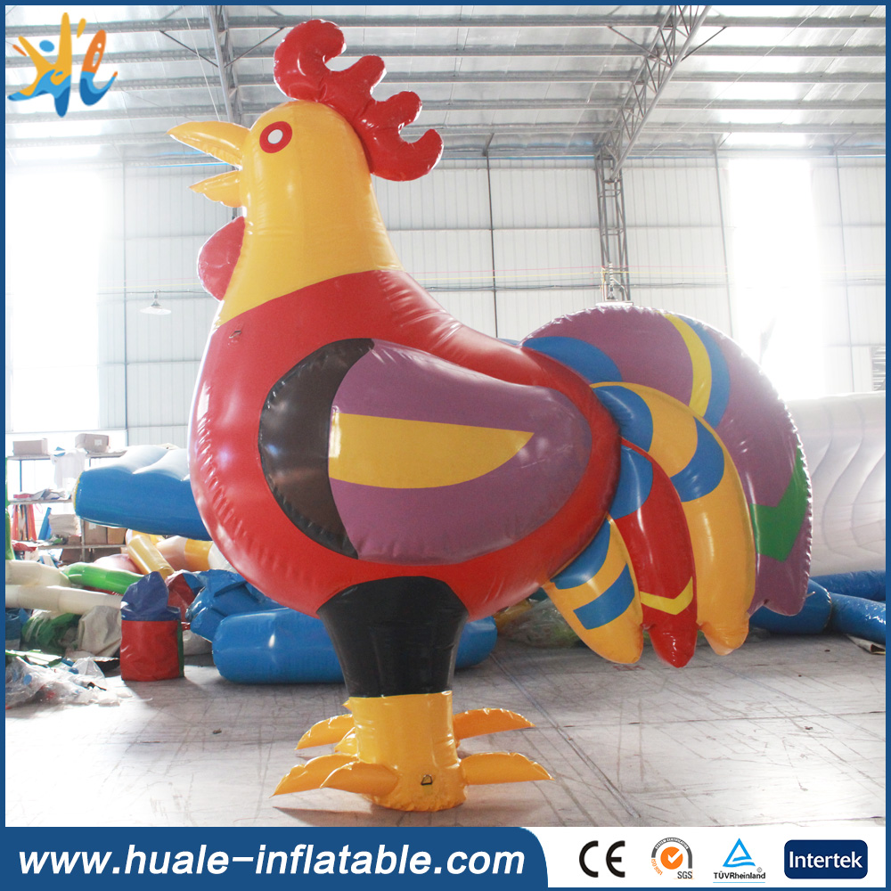 High quality PVC material inflatable model, inlfatable chicken for advertising