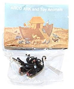 ARCO Noah's Ark Monkeys Plastic Toys on Card NOS