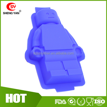 Large 3d Lego Minifigure Silicone Mold / Diy Reusable Silicon Ice ...