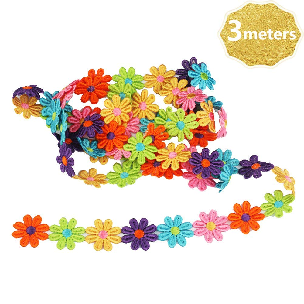 100X Candy Colorful Flower Flatback Wooden Buttons Sewing Craft Scrapbooking Pro