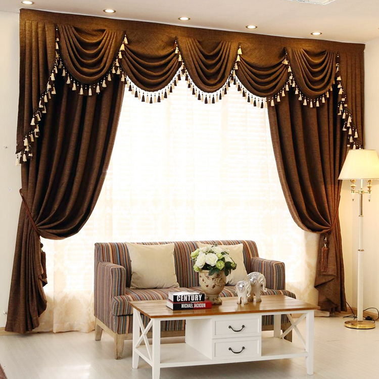 Luxury european curtains sheer and drapes european style