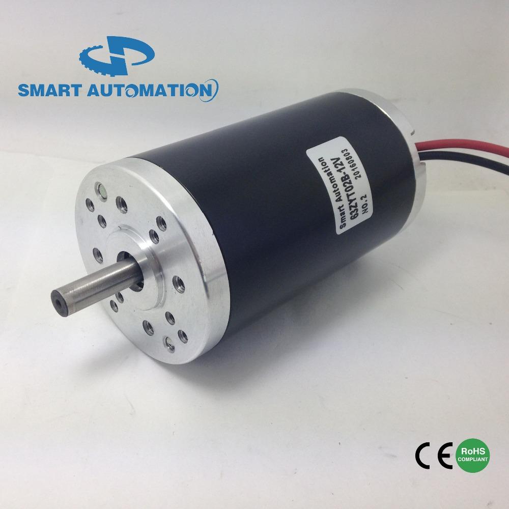 Od63mm high torque permanent magnet brushed dc motor 12v for 24v brushed dc motor
