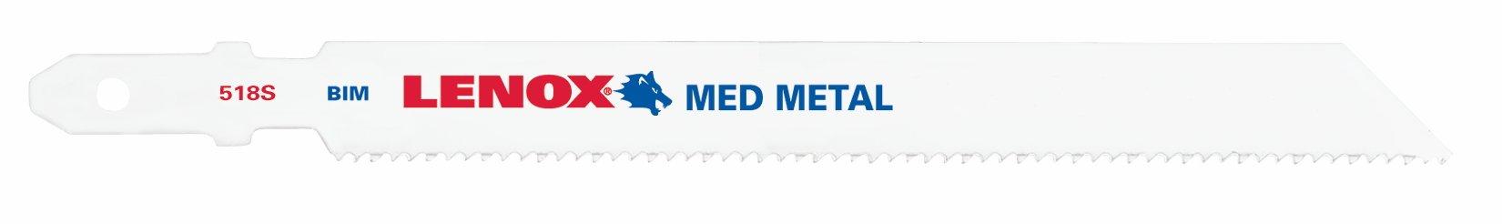 Lenox Tools 20854F518S T-Shank Bi-Metal Medium Metal Cutting Jig Saw Blade, 5-1/4-Inch x 3/8-Inch x 18 TPI, 5-Pack