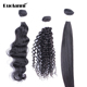 Best cheap natural brazilian human ombre virgin hair body curly loose wavy straight weave waves bundles hair