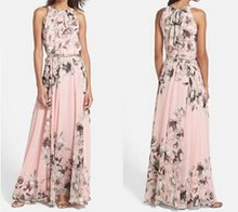 d72704h 2016 spring and summer new design women maxi dress beach dress ladies chiffon long dress