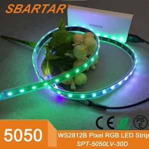WS2812B 5050 SMD RGB LED Strip 5m 150 LEDs Black PCB Individual Addressable  5V