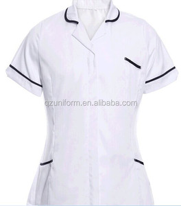 Woman Office Hospital Uniform Cotton Workwear Shirt