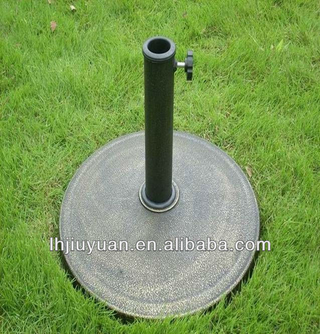 9KG cheap Round Resin Decorative Bronze Umbrella Base