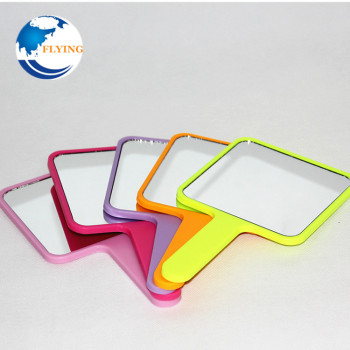 Hot-Selling Plastic Square Shape Hand Held Makeup Mirror Colourful Customized Logo Mirror