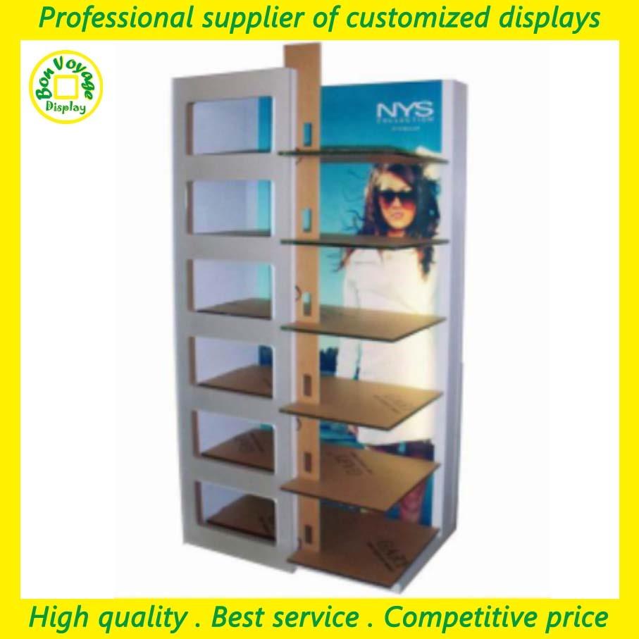 10b315b416e1b0 winkel houten vloer zonnebril kast showcase met led-verlichting en draad  haken